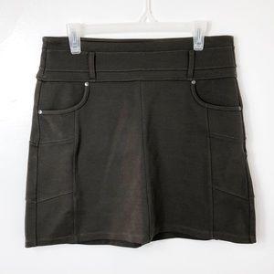 Athleta Dark Olive Green Rockwell Stretch Skirt M
